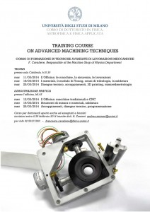 Training Course on Advanced Machining Tecniques